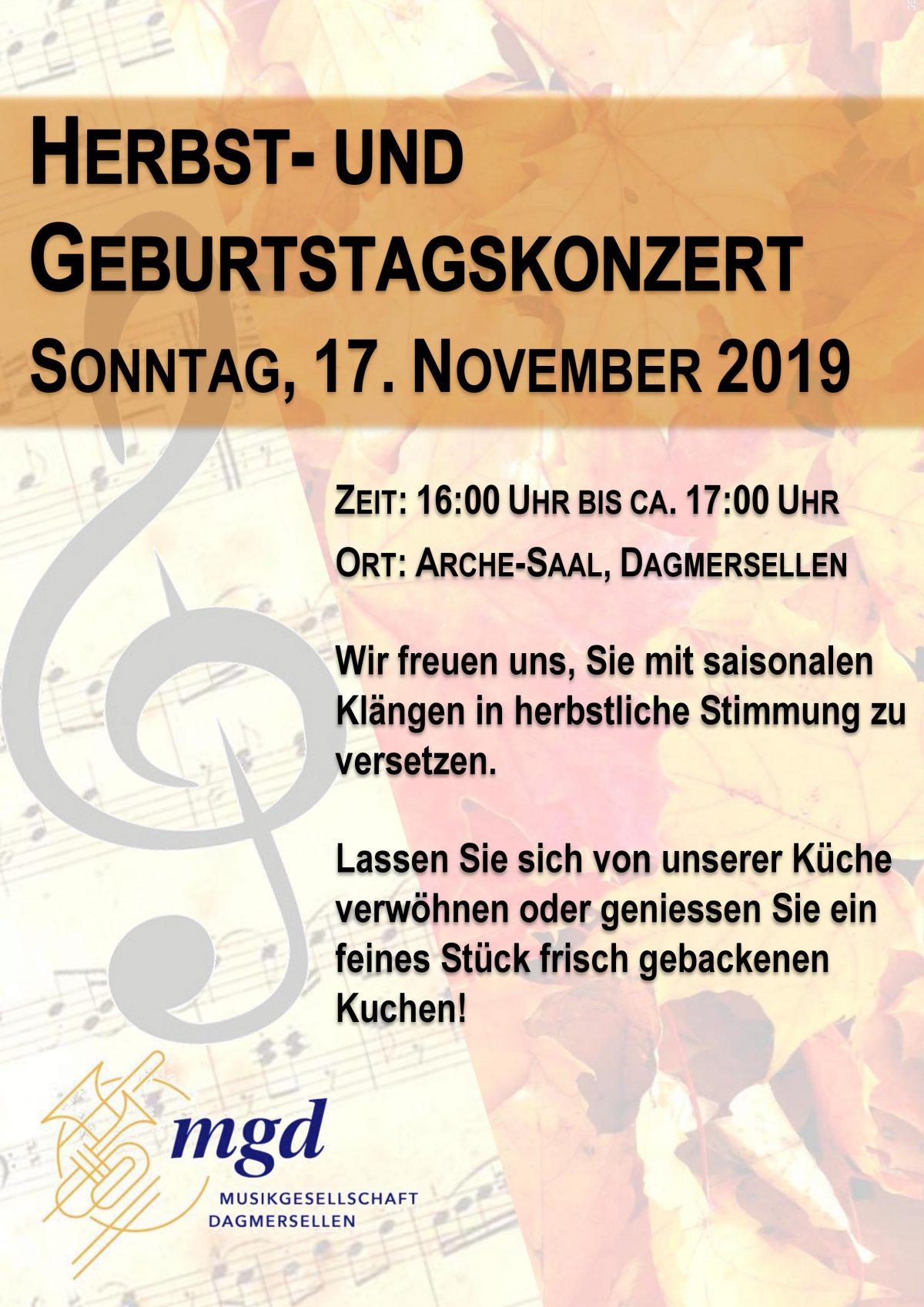 Herbst- und Geburtstagskonzert 2019